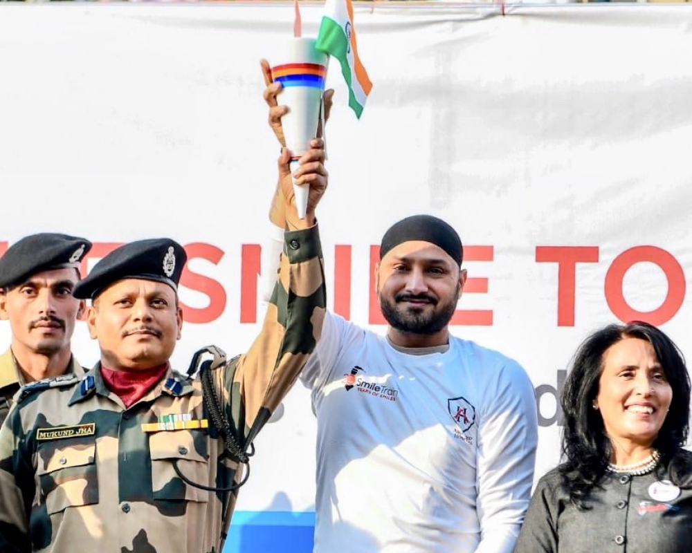 Harbhajan Singh with Smile Torch