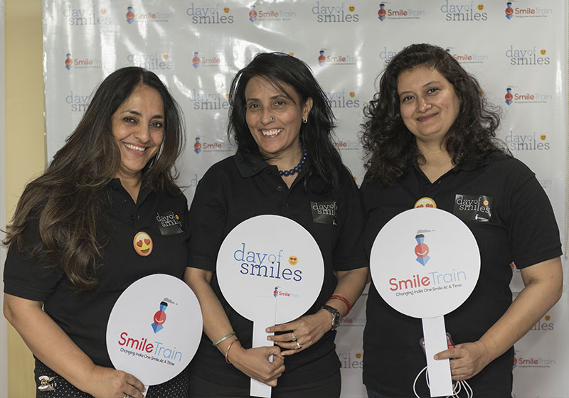 Mamta with other Smile Train India staff on World Smile Day