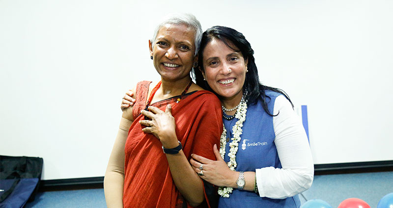 Dr Murthy with Mamta Carroll